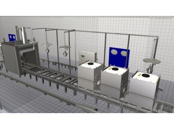 Автоматическая установка высокого давления для мойки емкостей снаружи и внутри