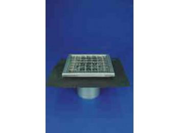 Трап мини вертикальный одноэлементный Wm200/110V1 с дополнительным фланцем Решетка из перфорированной стали тип - В