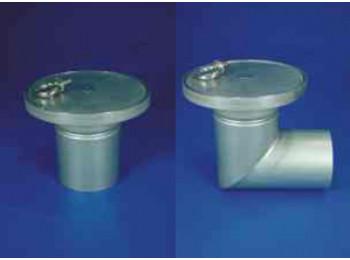 Трап мини вертикальный с герметичным покрытием Dm200/110V1S одноэлементный и трап мини горизонтальный с герметичным покрытием Dm200/110H1S одноэлементный.