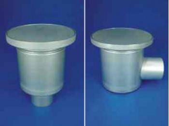 Трап вертикальный D255/110V1S и горизонтальный D255/110Н1S c герметическим покрытием одноэлементный.